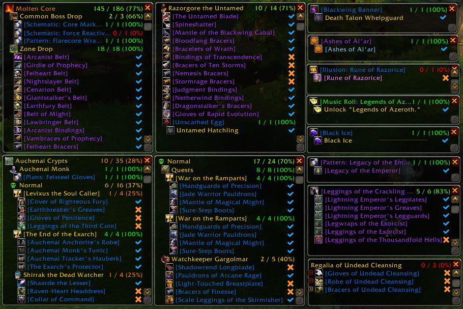 WoW ALL THE THINGS addon bfa 2019