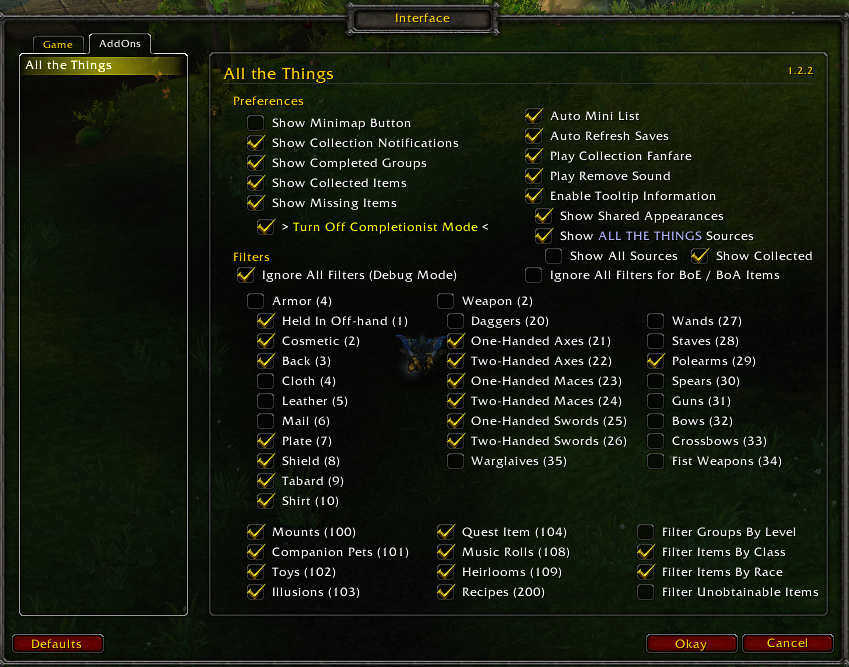 WoW ALL THE THINGS addon bfa/classic 2019