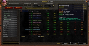 wow addon Altoholic