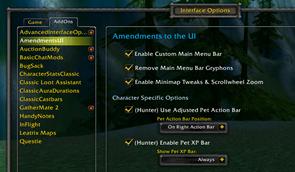 Amendments to the UI