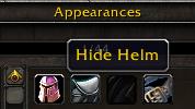 Appearance Sets Helm Hider