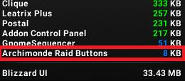Archimonde Raid Buttons (ARB)
