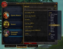 wow addon Arena Filter