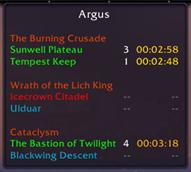 wow addon Argus