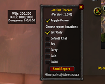 wow addon Artifact Tracker