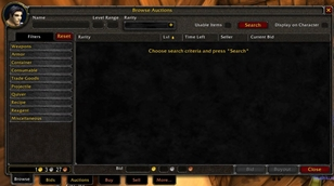 wow addon Auction House Reset