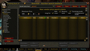 Auctioneer Cheapo searcher module (with transmog)