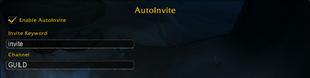 wow addon AutoInvites