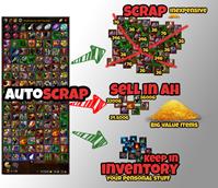 AutoScrap (Auto Scrap under a TSM AuctionHouse sell price)