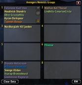 wow addon Avengers Nemesis Groups