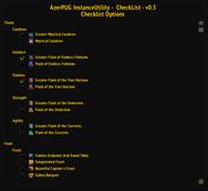 wow addon AzerPUG-InstanceUtility-CheckList