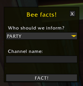 wow addon BeeFacts