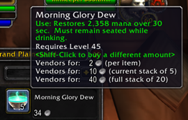 wow addon Better Vendor Price
