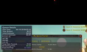 wow addon BG Queue Tracker