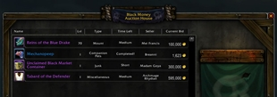 wow addon Black Money Auction House