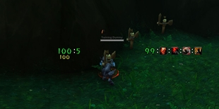 wow addon Blink\'s Health Text (HUD)