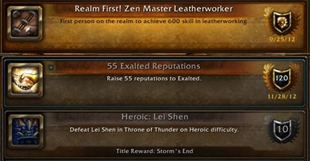 wow addon Character Achievements