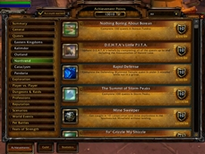 Character Achievements