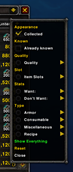 wow addon Compact Vendor Filter