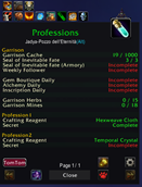 wow addon Daily Global Check_Professions