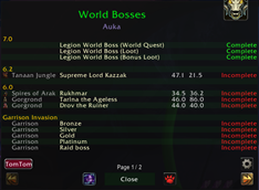 Daily Global Check_World Bosses