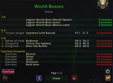 Daily Global Check_World Bosses