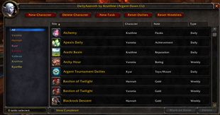 wow addon DailyAzeroth