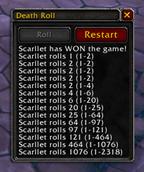 wow addon Death Roll