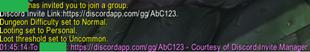 wow addon Discord Invite Manager