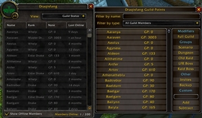 wow addon Draqisfang Guild Points
