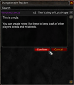 Dungeoneer Tracker
