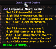 ElvUI Companions Datatext
