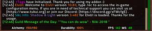 wow addon ElvUI Professionalism Datatext