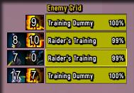 wow addon Enemy Grid