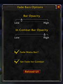 wow addon Fade Bars
