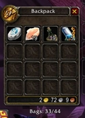 wow addon Free Bag Spaces
