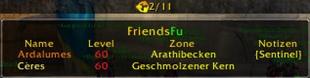 wow addon FuBar – FriendsFu
