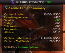 wow addon Gallywix\'s Azerite Ledger
