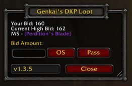 wow addon Genkai's DKP Loot System – Classic