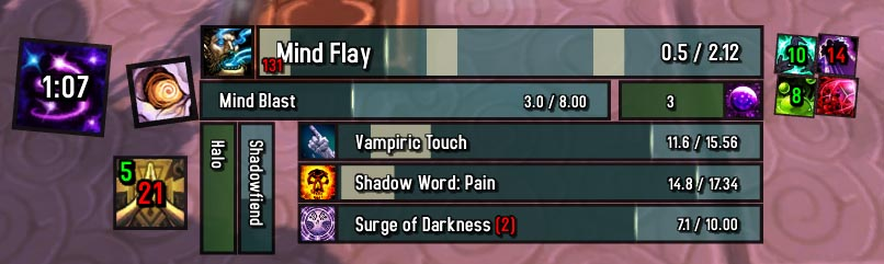 WoW Gnosis (Castbars and Timers) addon bfa/classic 2019