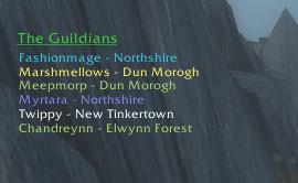 wow addon Guild HUD