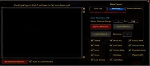 Guild Roster Manager (GRM)