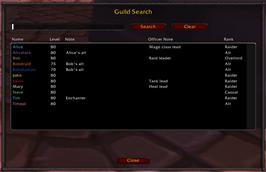 Guild Search