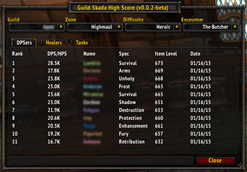 Guild Skada High Score