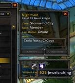 wow addon GuildMemberInfo – TradeSkills