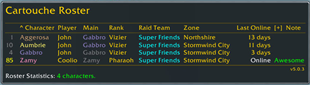 wow addon GuildRosterDeluxe