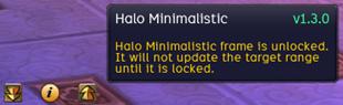 wow addon Halo Minimalistic