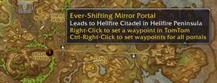wow addon HandyNotes: Ever-Shifting Mirror