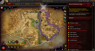 wow addon HandyNotes: Visions of N'zoth Rares by TomCat's tours (Uldum and Vale of Eternal Blossoms)