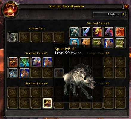 Wow Hunter Pets Addon Shadowlands Classic 2020